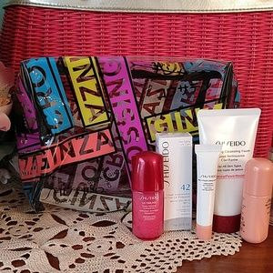 Shiseido Clear Make-up Bag with Samples